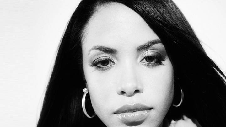 Aaliyah Black N White Face Closeup